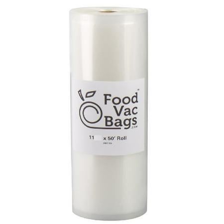 "FoodVacBags 11"" X 50' Roll 4 mil Embossed Vacuum Sealer Bags for Foodsaver and"