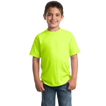 Port & Company® - Youth Core Blend Tee.  Pc55y Safety Green Xs - image 1 of 1