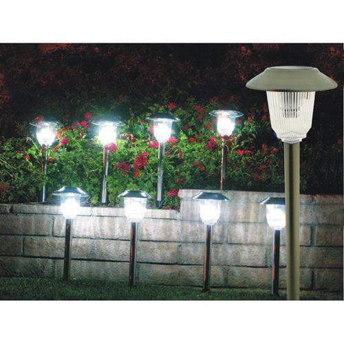 Homebrite Solar Power Olympus Path Lights - Set of 8