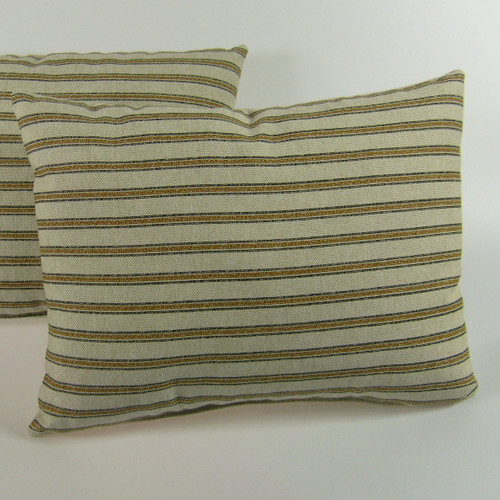 American Mills Gardening Stripe Throw Pillow (Set of 2)
