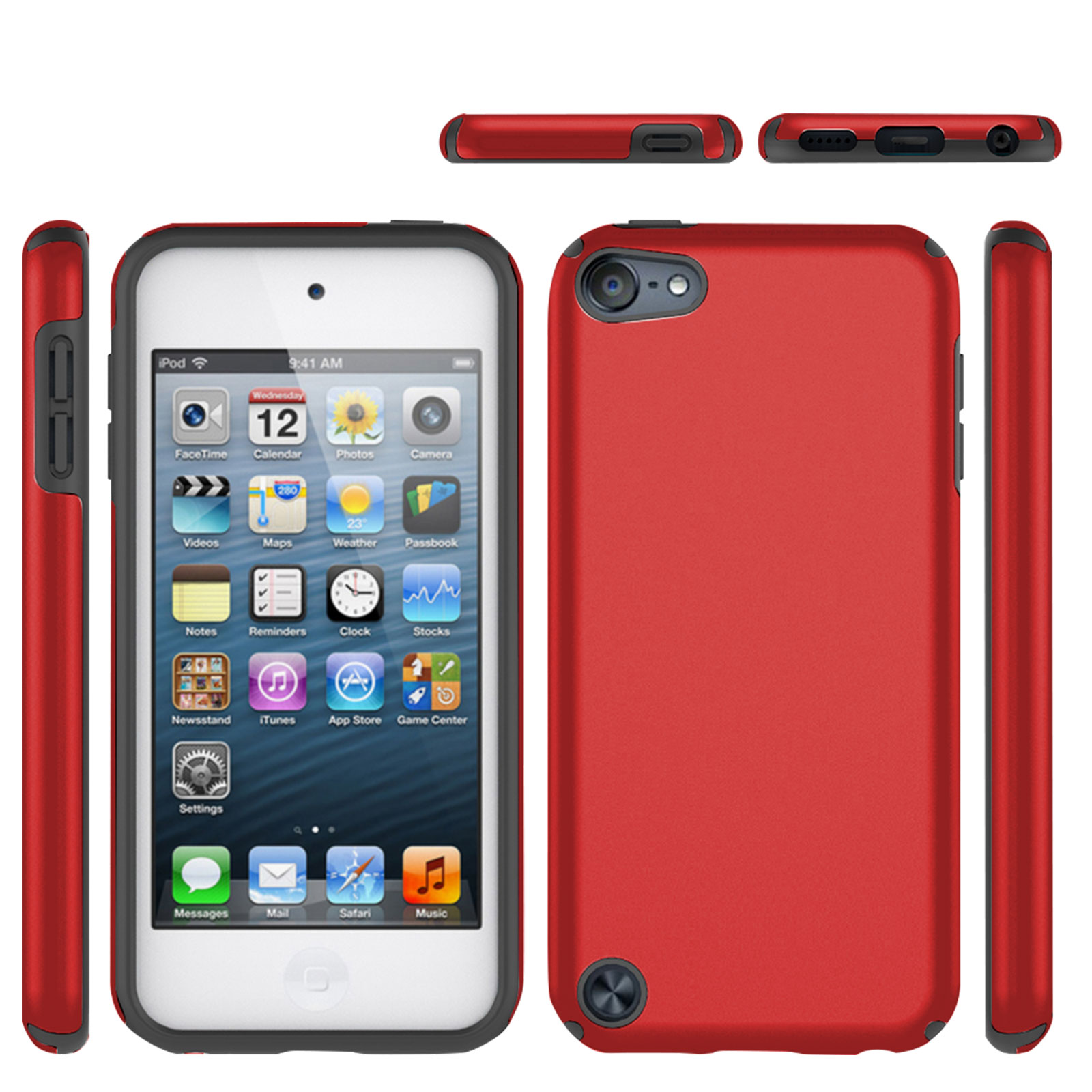 2PCS iPod Touch 7th, 6th, 5th Gen Case Cover, 2 in 1 Hard PC Case ...