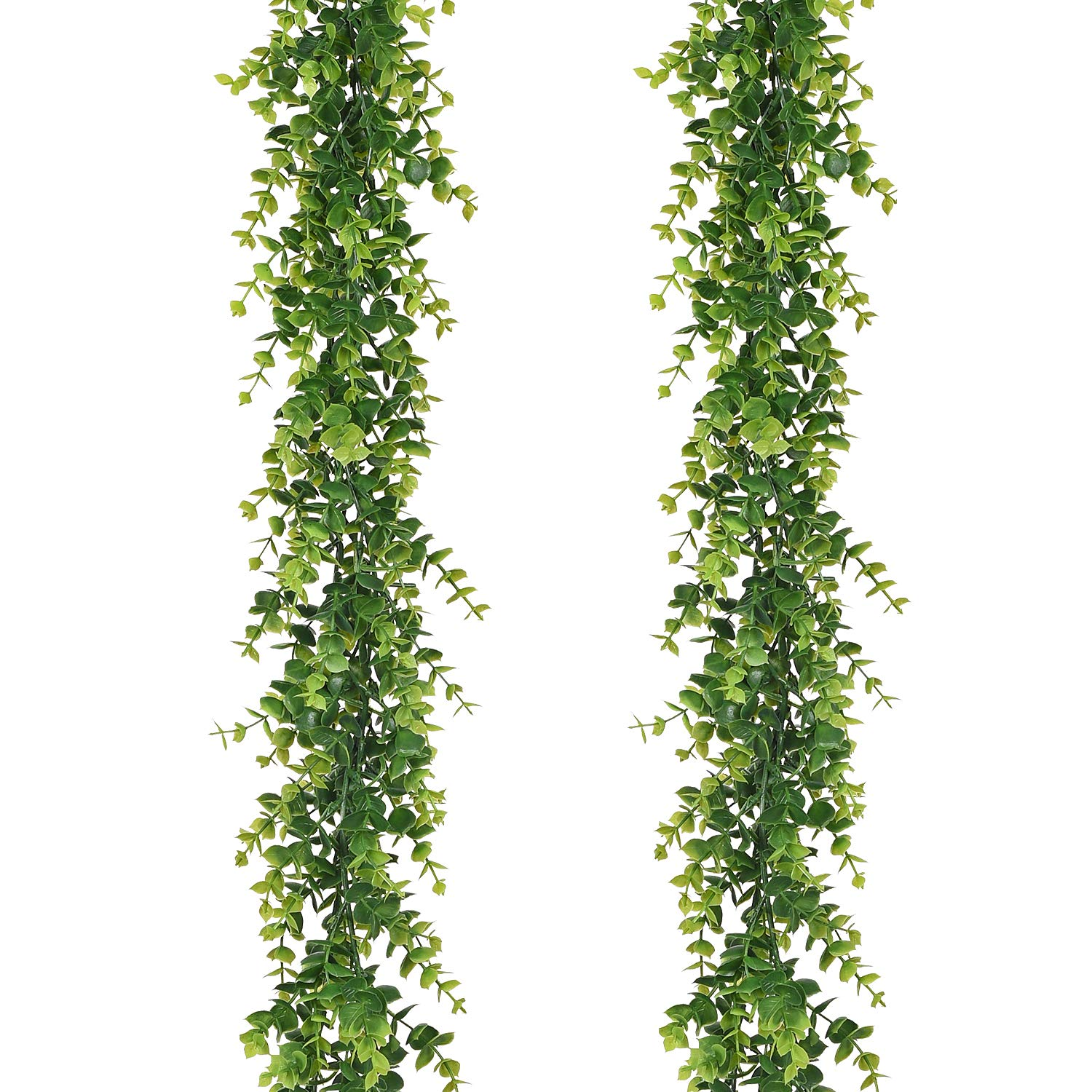 Artificial Vines Faux Eucalyptus Garland 2 Pack Fake
