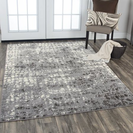 Williston Forge Barger Gray White Area Rug