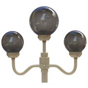 Bone 3 Globe European Lamp for Indoor & Outdoor Use, Bronze Bulbs