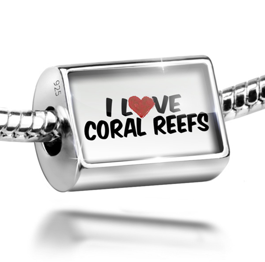 Bead I Love Coral Reefs Charm Fits All European Bracelets by NEONBLOND