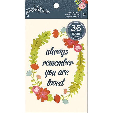 American Crafts Front Porch Phrase Cards  4 By 6 Inch  Sentiment Quotes  24 Pack Multi Colored