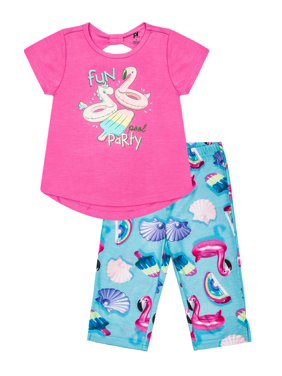 Baby & Toddler Clothing F&f Baby Girl 0-3 Months Top And Shorts Set