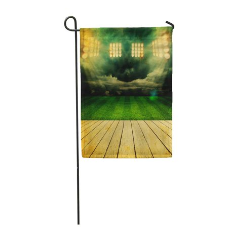 LADDKE Green Best Stadium Champion Field Football Arena Brasil Brazil Bright Garden Flag Decorative Flag House Banner 28x40