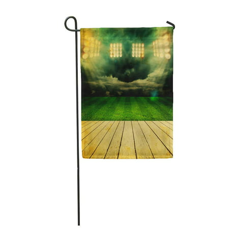 KDAGR Green Best Stadium Champion Field Football Arena Brasil Brazil Bright Garden Flag Decorative Flag House Banner 12x18