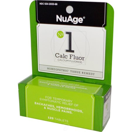 Hylands NuAge Tissue Salts Calc Fluor 6X 125 Tablet, Pack of 2
