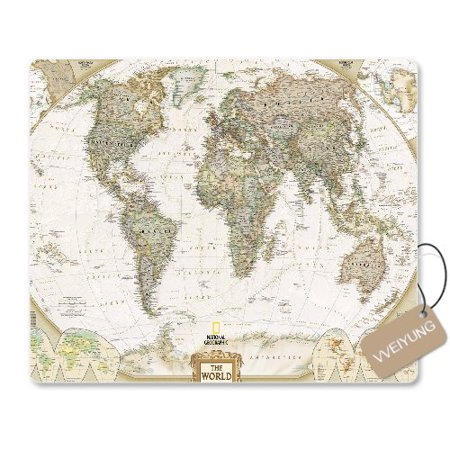 POPCreation Retro World Map Mouse pads Gaming Mouse Pad 9.84x7.87 inches