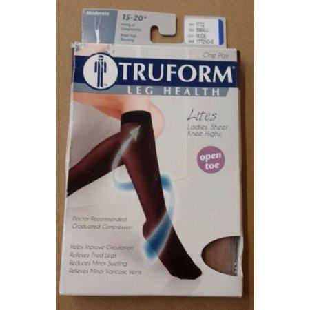 Truform 1772 Knee High Open Toe 15-20mmHg Stockings, Nude