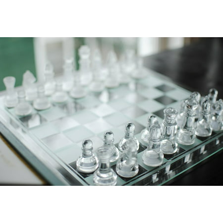 10 Piece Poster (Canvas Print Chess Board Game Chess Pieces Chess Glass Chess Set Stretched Canvas 10 x)