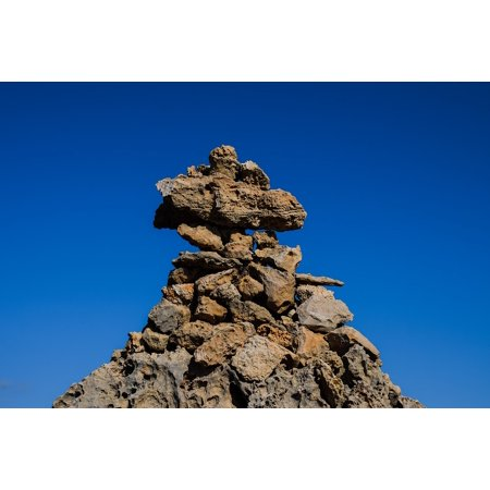 Rock Stack (Canvas Print Stack Cairn Sign Rocks Stones Pile of Stones Stretched Canvas 10 x 14)