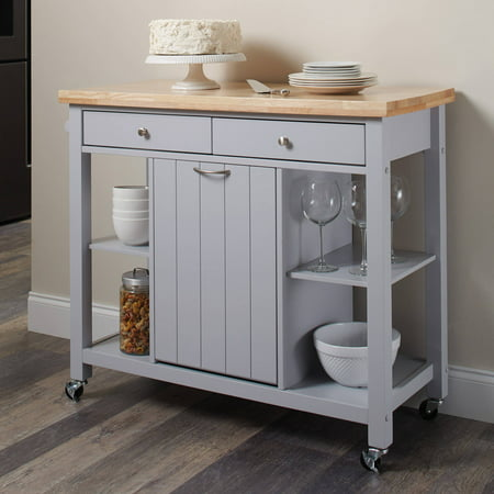 Coaster Company Kitchen Cart With Garbage Compartment