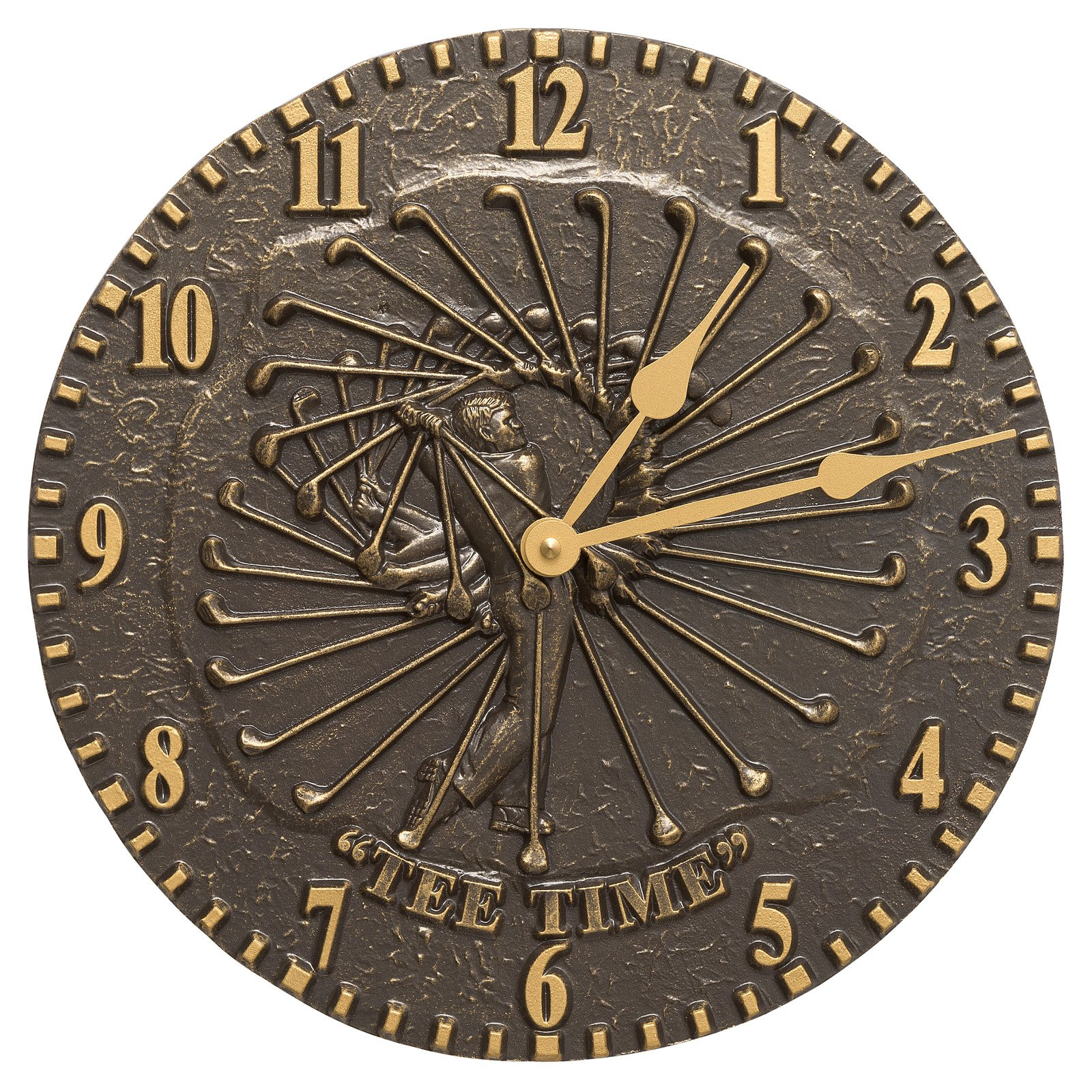 Whitehall Products Golfer 12-in. Indoor/Outdoor Wall Clock