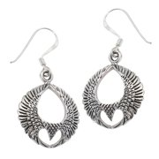 Eagle of Freedom with Spread Wings Sterling Silver Earrings