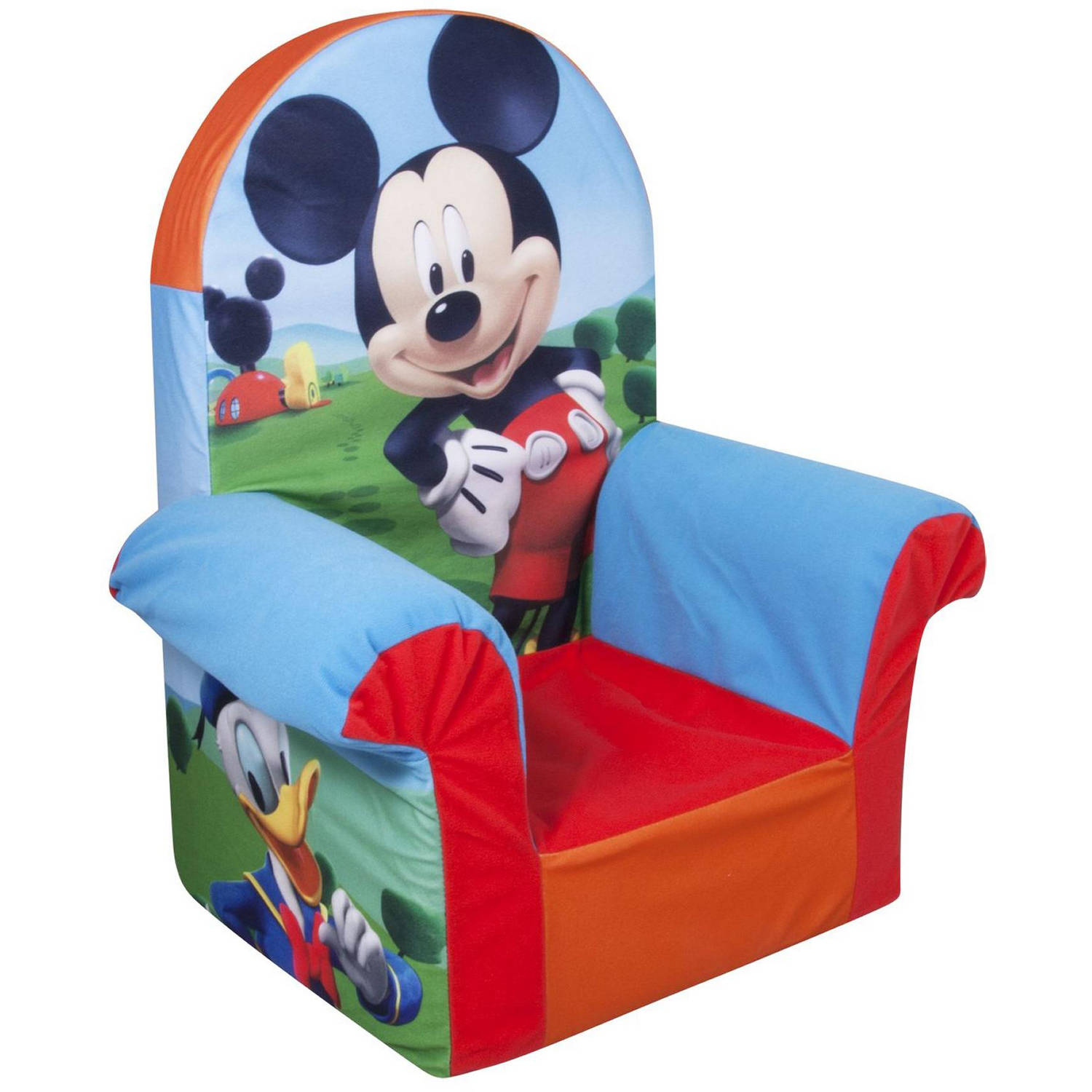 Marshmallow High Back Chair, Disney Mickey Mouse Club House