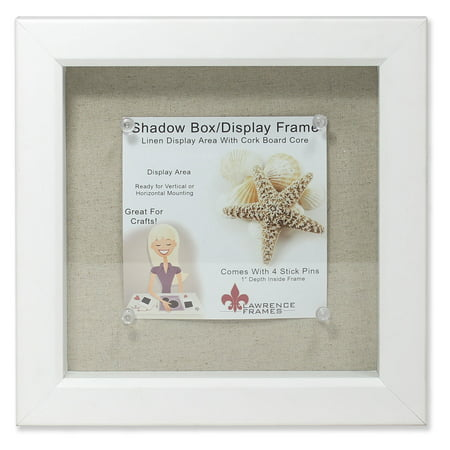 8x8 White Shadow Box Frame - Linen Inner Display Board