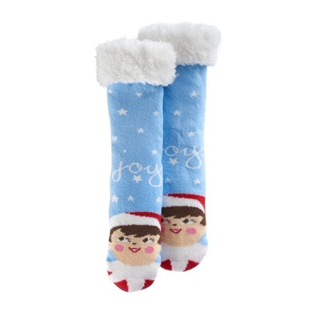 The Elf On The Shelf Scout Elf Fleece-Lined Slipper Socks - Girls 4-16 (9-11) (Scout Elf)