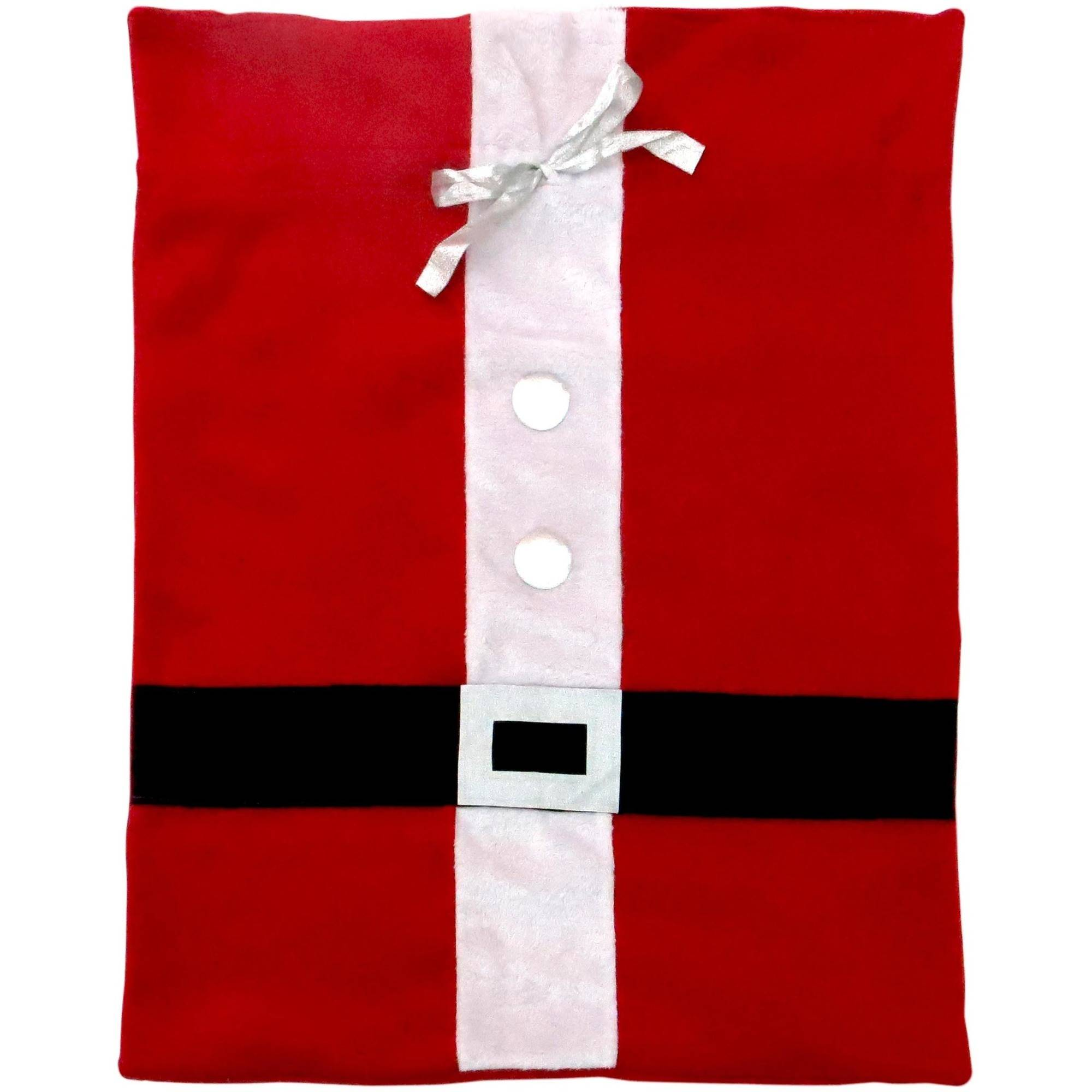 "Holiday Time 36"" by 28"" Christmas Festive Fabric Gift Bag - Santa Claus"