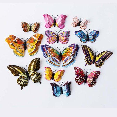 ZEDWELL 3D Glow in The Dark Butterfly Wall Ceiling Decals Decor Removable Mural Stickers Home Kids Room Bedroom