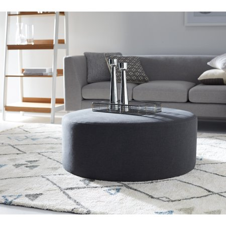 Marvelous Modrn Scandinavian Pascal 36 Round Ottoman Machost Co Dining Chair Design Ideas Machostcouk