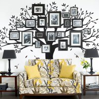 Family Tree Wall Decal - Black - 107 w x 90 h inches - Standard