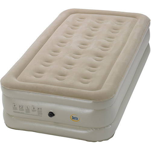 Serta Raised Air Bed with External AC Pump, Multiple Sizes
