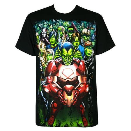 Marvel Comics Secret Invasion Skrull Nation Mens T-Shirt, (Secret Skirt)