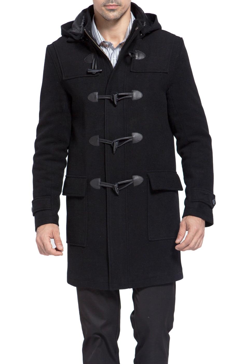 BGSD Men's 'Benjamin' Wool Blend Classic Duffle Coat by BGSD