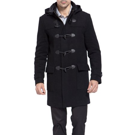 - BGSD Men's 'Benjamin' Wool Blend Classic Duffle Coat