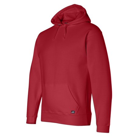 J. America Mens Pouch Pocket Hooded Sweatshirt, Red, Large, Style, J8824 America Hooded Sweatshirt