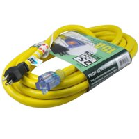 Conntek STW Super Heavy Duty Outdoor Jacket Lighted End Extension Cord, 50-Feet