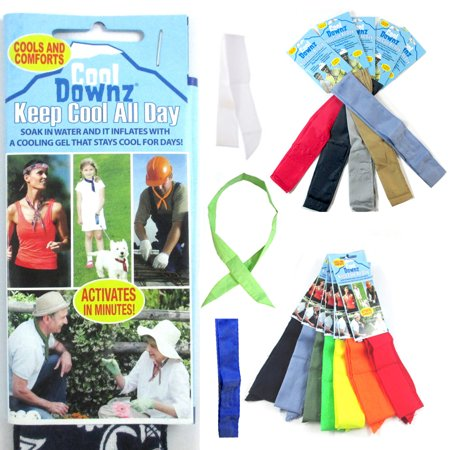 - 6 Pc Cooling Towel Bandana Headband Chilly Pad Water Cool Downz Head Neck Heat