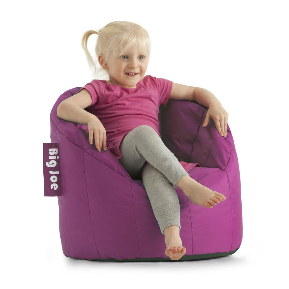 Big Joe Kids' Lil Lumin Beanbag Chair, Radiant Orchid by Comfort Research