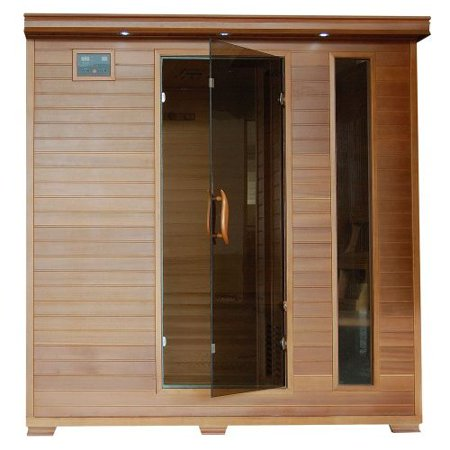 6 Person Sauna FAR Infrared Red Cedar Wood 10 Carbon Heaters CD Player MP3 Color Light Therapy - Heat Wave Great Bear (Heat Wave Sauna)