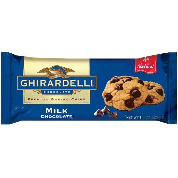 Ghirardelli Milk Chocolate Chips, 11.5 Oz