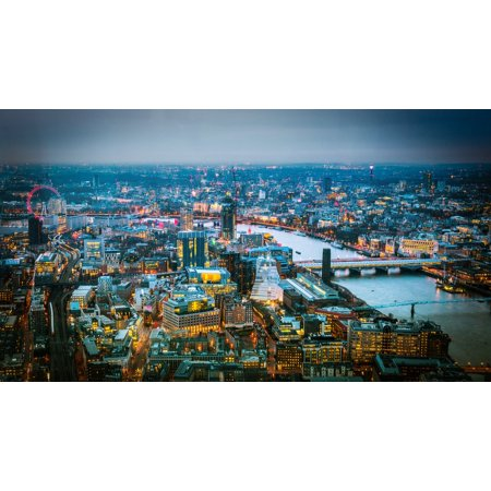 LAMINATED POSTER London River Thames London Eye View From The Shard Poster Print 24 x 36 - Thames Valley Police Halloween Poster