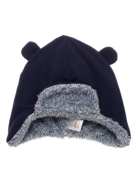 Product Image Toddler Boy s Navy Fleece Bomber Hat with Double Pom 7630b81f2