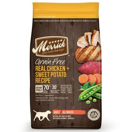 Merrick Grain-Free Real Chicken + Sweet Potato Recipe Dry Dog Food, 25 lb