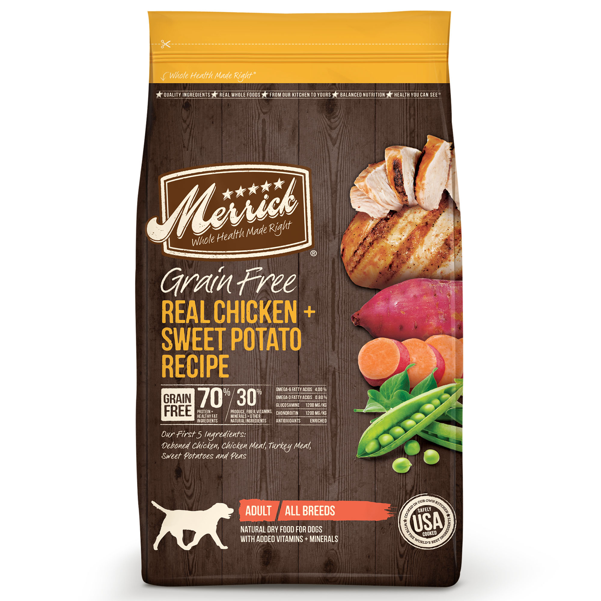 Merrick Grain-Free Real Chicken + Sweet Potato Recipe Dry Dog Food, 25 lb