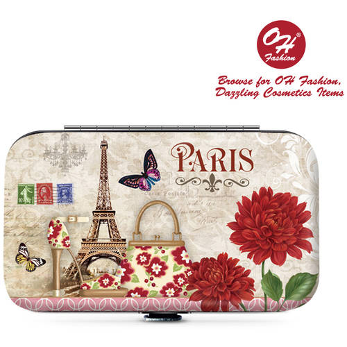OH Fashion Manicure set Paris style , Nail Clipper, Cuticle , scissors 5 pc in 1 travel case