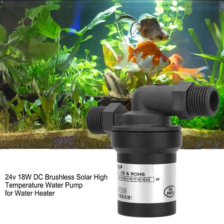 24v Water Heater - Hilitand 24v 18W DC Brushless Solar High Temperature Water Pump for Water Heater, Solar Water Pump,Pump