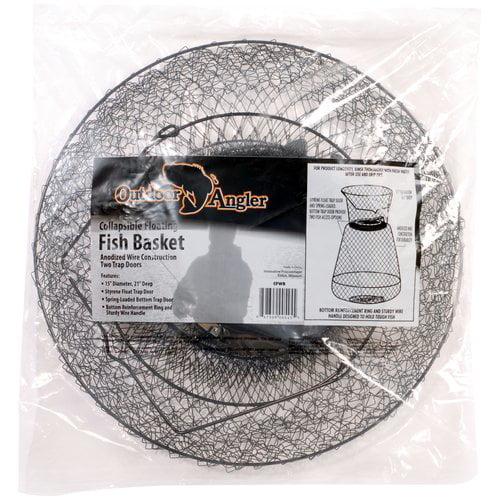 Outdoor Angler Floating Wire Basket, Black