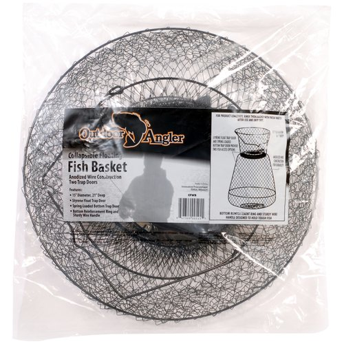 Outdoor Angler Floating Wire Basket, Black