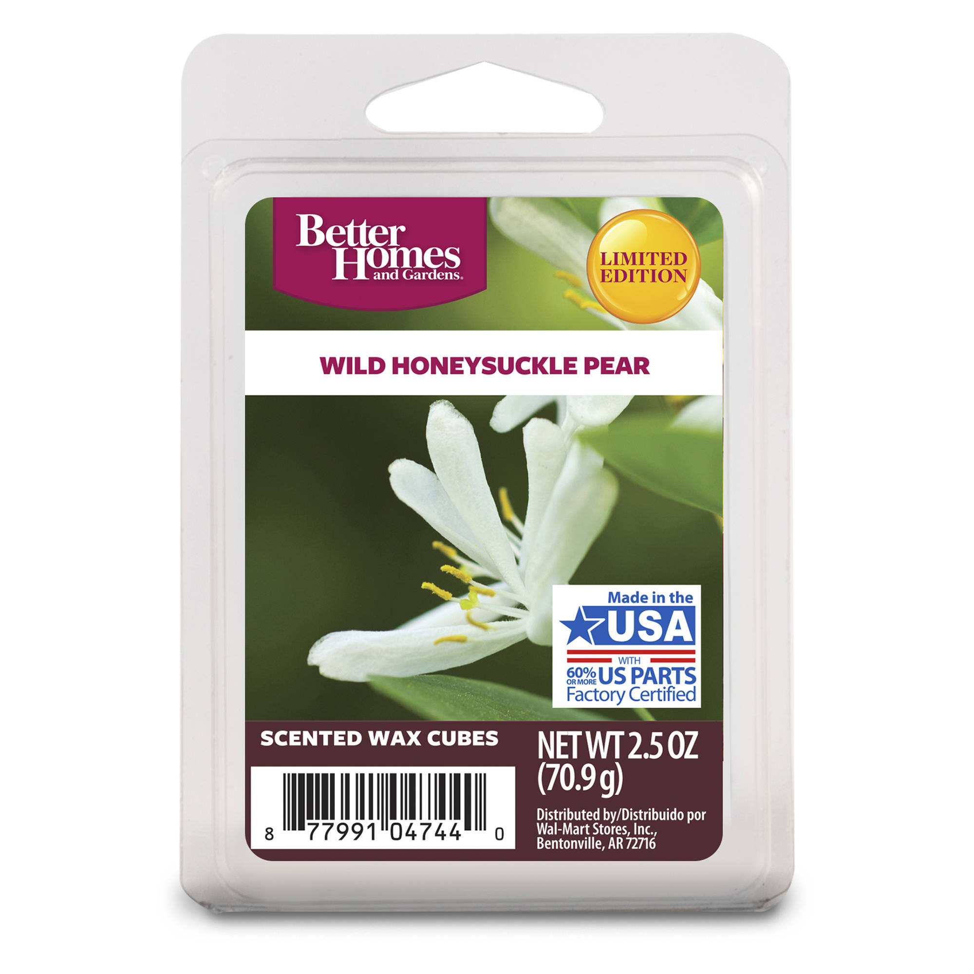 Better Homes and Gardens Wax Cubes, Wild Honeysuckle Pear