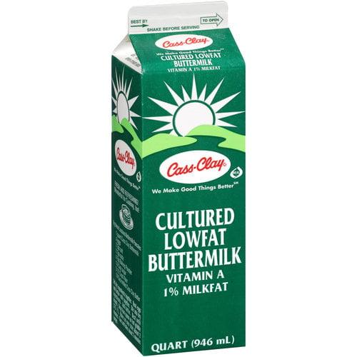 Cass-Clay Cultured Lowfat Butter Milk, 1 qt