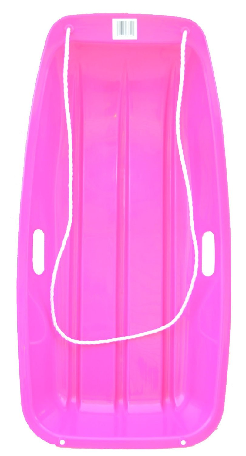 Snow Sled Kids Winter Toboggan Sled Slider 35-inch (PINK) by