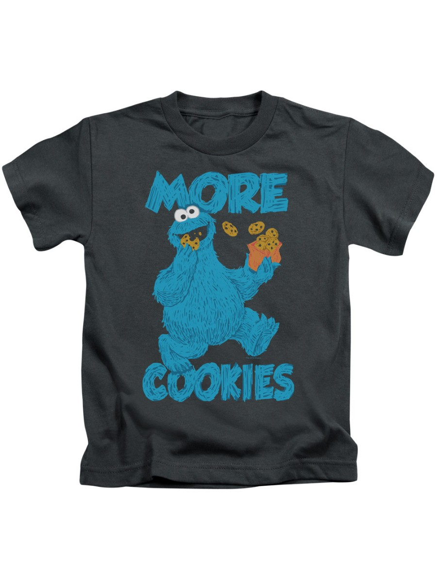 sesame street tv show more cookies for monster little boys juv t-shirt tee